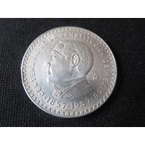 Moneda Centenario De La Costitucion 1857-1957 Ley.720