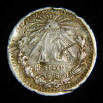 Monedas 10 Centavos 1906 Resplandor Ley .800