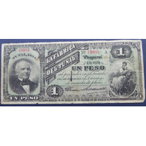 Billete Fabrica El Tunal 1 Peso 1884 Original