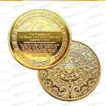 Moneda Con Calendario Azteca 2013 Bañada En Oro De Coleccion