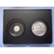 Set De Medallas Sep 30 Años De Servicio Plata .999 Proof