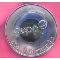 Moneda México Geep 5 Aniversario Numeración Maya Bronce/plat