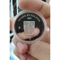 Onza De Plata Moneda De Los Estados 1 Fase Escudos 10 Pesos
