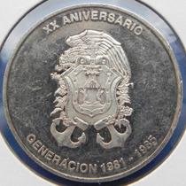 Medalla Mexica Escuela Naval 20 Aniversario Plata Excelente