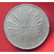 Moneda México 8 Reales 1894 Rd Durango Plata
