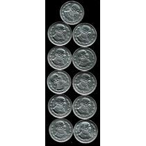 Coleccion Completa De Pesos Plata 0.100