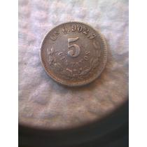 Moneda Antigua 5 Centavos 1902cn