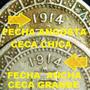 Monedas 5 Centavos 1914 Par Variedades Ceca Y Fecha