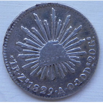 Moneda 1 Real Zacatecas 1829 A O Plata Alta Condicion