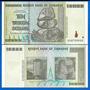 Billete Zimbabwe 10 Trillones De Dolares !!
