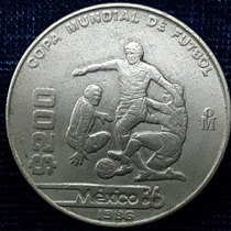 Moneda Conmemorativa $200 Olimpiadas México 86