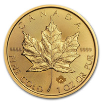 Canadá 2015 Maple Leaf 1 Onza Oro Puro .9999 (24 Kilates)