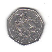 1 Dolar 1989 Moneda Barbados Reina Isabel Il - Hm4
