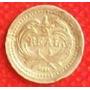1/2 Real 1879 Plata Guatemala Escudo Con Decreto - Hm4