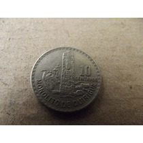 Moneda 10 Centavos Guatemala 1971
