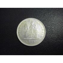 Guatemala 1 Real Fecha 1899 Plata Ley 600