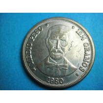 Republica Dominicana Medio Peso 1980 Niquel