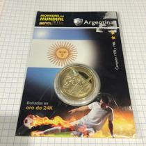 Moneda Del Mundial Brasil 2014 Equipo Argentina Nueva