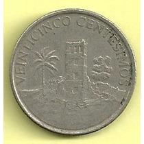 Moneda Panama 25 Centesimos (2003)