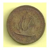 Moneda Territorios Britanicos Del Este Del Caribe 5 Cents