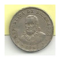 Moneda Nicaragua 10 Centavos De Cordoba (1965)
