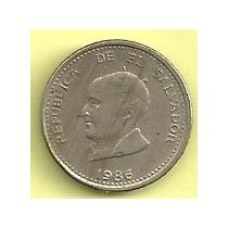 Moneda El Salvador 25 Centavos (1986) Hecha En Mexico