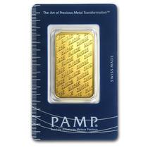 Lingote Pamp Suisse 1 Onza Oro Puro .9999 En Certicard.