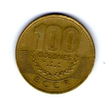 Moneda De 100 Colones. 1998 Costa Rica