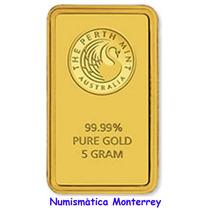 Australia, Lingote 5 Gramos Oro Puro .9999 Perth Mint.