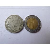 Moneda Antigua 5 Centavos 1919 Nicaragua