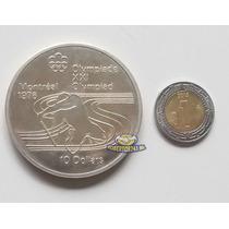 Moneda De Plata 10 Dolares Olimpiada Montreal 76 Muy Escasa
