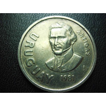 Uruguay 10 Pesos Fecha 1981 Niquel 27mm