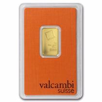 Valcambi, Suiza Lingote 5 Gramos Oro Puro .9999 En Certicard