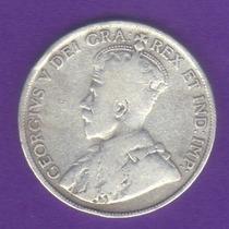 50 Centavos Dollar Plata 1918 Canadá Rey Jorge V - Vbf
