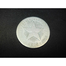 Cuba 20 Centavos Fecha 1915 Plata Ley 0.900 23mm 4.6g