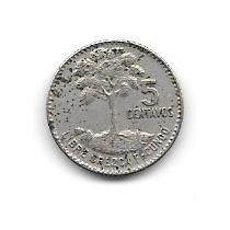 Moneda Guatemala 5 Centavos (1969) Arbol