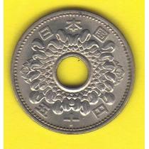 50 Yen 1966 Japón Moneda Flor De Crisantemo Hiroito - Hm4