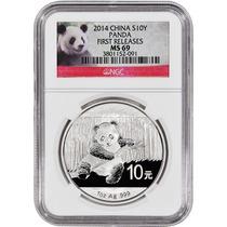 Moneda Plata Panda 2014 !! Certificada Ms-69