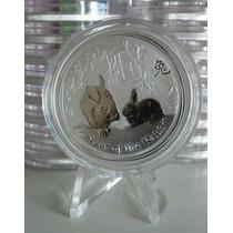 Moneda Plata Australia 1 Oz Conejo 2011 !!