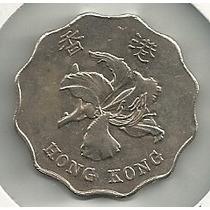 Moneda Hong Kong 2 Dolares (1998) Orquidea