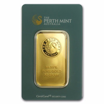 Australia, Lingote 50 Gramos Oro Puro .9999 Perth Mint.
