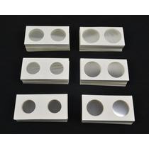 (35.0mm) Caja Con 50 Cartones Protectores De Moneda