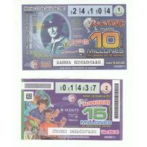 2 Billetes De Lotería Scout De México Boletos Baden Powell