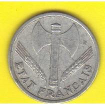 1 Franco 1943 Francia Moneda Segunda Guerra Vichy - Hm4