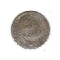 1 1/2 Franco 1833 Plata Moneda Francia Rey Luis Felipe I Hm4