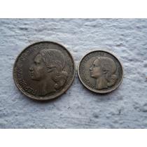 Par De Monedas Francia 10 Y 50 Francos