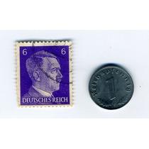 Moneda 1 Pfennig Alemania Nazi 1944 Timbre De Swastika