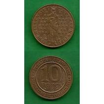 Grr-moneda De Francia 10 Francs 1987 - Milenio Primer Rey