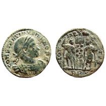 Aaaa Antigua Moneda Romano Flavio Constancio 2g 17mm Wow Rcg