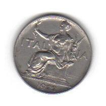 1 Lira 1922 Moneda Italia Post Primera Guerra Mundial - Vbf